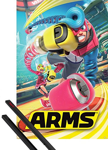 1art1 Poster + Sospensione : Arms Poster Stampa (91x61 cm) Arms Cover E Coppia di Barre Porta Poster Nere