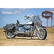 Harleys 2019 - Motorradkalender, Harley Davidson Kalender, Fotokalender, Wandkalender 2019  -  29,7 x 42 cm