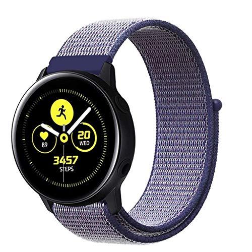 MMLC Einstellbares Nylon-Nylonband für Samsung Watch Active 20MM (B) -