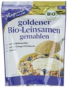 Virginia Harvest Goldleinsamen gemahlen, 4er Pack (4 x 200 g) - Bio