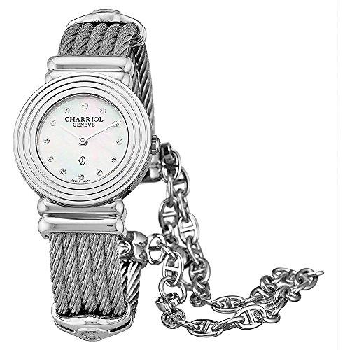 Charriol Women's 24mm Steel Bracelet & Case Swiss Quartz Watch 028LS.540.326