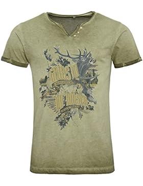 Michaelax-Fashion-Trade Marjo - Herren Trachten T-Shirt, M63 Grias di (669600-020039)