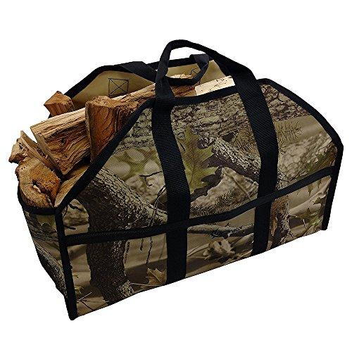 Leña Log Carrier Tote bolsa con la exclusiva grillinator
