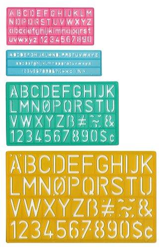 Westcott Buchstabe schablonendrucke Guides (4Größen) (Buchstabe C Stuff)