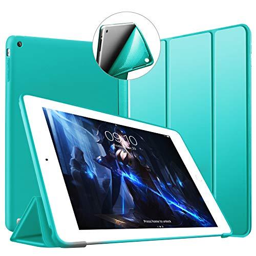VAGHVEO Custodia per iPad 2, iPad 3 e iPad 4, Ultra Sottile e Leggere Magnetico Case [Auto Svegliati/Sonno] con Morbido TPU Soft Silicone Smart Cover per Apple iPad 2/3 / 4, Menta Verde