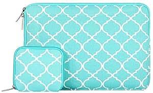 MOSISO - Stile Quadrifoglio / marocchini Trellis Tessuto di Tela Custodia Borsa Sleeve Case per 12,9 iPad Pro e Laptop / Notebook / Computer Portatile / MacBook Pro / MacBook Air da 13-13.3 Pollici, Blu Caldo?-