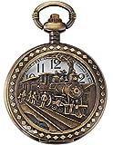 EASTPOLE WPK100 - Reloj de Bolsillo de Cuarzo, Anal¨gico, Caja Bronce, con...