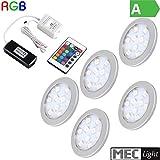 1-6x RGB-LED Aufbau Möbel-/Unterbauleuchte
