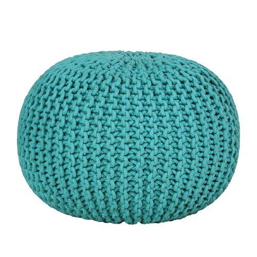 Stylefurniture 1099/318 Cottonball, Stoff, türkis, 55 x 55 x 37 cm