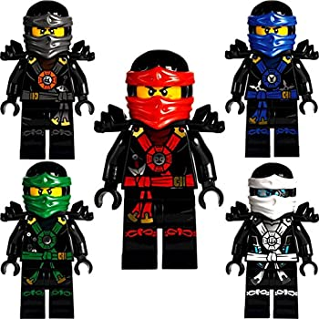 Lego ninjago set of 5 minifigures deepstone kai lloyd jay zane and cole from set 70751 - Ninjago lloyd and kai ...