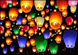 #8: Aim-Premium Quality Sky Lantern Multi Color Finest Quality With Wax Candle Pack of 20 piece