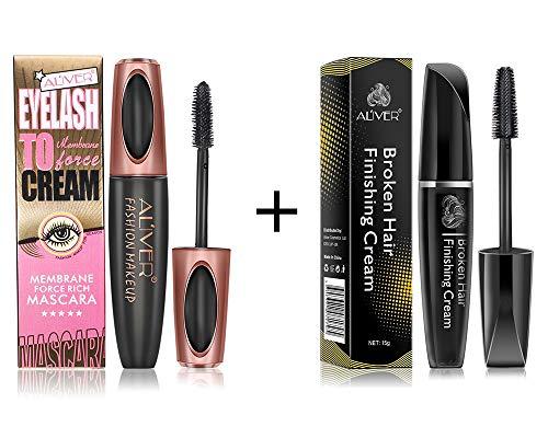 Feuchtigkeitsspendende Wasserdicht Make-up Entferner (Broken Hair Cream Finishing Sticks & 4D Silk Fiber Lash Mascara)