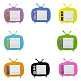 8x Cartoon Hohllichtschalter Vinyl-Aufkleber Umrandung Wandaufkleber Filz für Kinderzimmer Wanddekor - TV