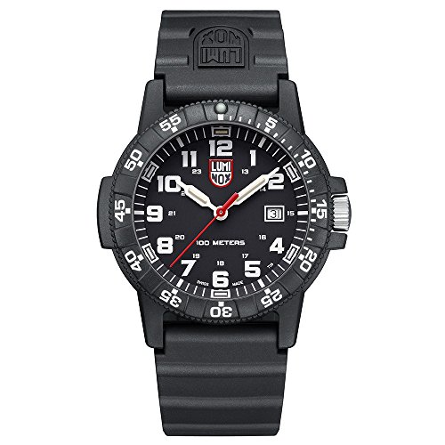 Luminox Leatherback Sea Turtle Giant 0320 series Watch with carbon compound Case Black|White Dial and PU Black Strap XS.0321