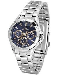 ufengke® mode lässig leuchtenden strass handgelenk armbanduhren,wasserdicht armbanduhren für frauen-blau, dekorative kleine Zifferblätter