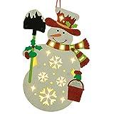 LED weiß Weihnachtsmann leuchtende Ornamente Weihnachten Anhänger Dekorationen kreative Urlaub Hochzeit Partei Dekorationen DIY Dekoration Kinderzimmer Anhänger Ornamente (B)