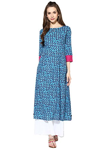 Ramrath Women's Cotton Kurti (Lntk01_Multicolor_X-Large)