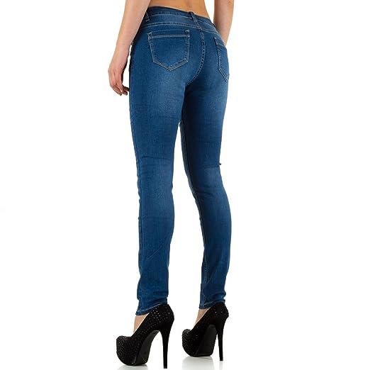 Plus Size Used Look Skinny Jeans Für Damen bei Ital-Design: Amazon.de:  Bekleidung