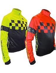 VeloChampion Chaqueta de ciclismo Otono/Invierno Pro Thermo Tech Jacket (Black/Red, Large)