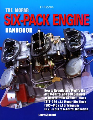 The Mopar Six-Pack Engine Handbook HP1528: How to Rebuild and Modify the 440 6-Barrel and 340 6-Barrelor Convert Your LA Sm all-Block (318-360 c.i.), Mopar ... or Magnum (5.2L-5.9L) (English Edition)