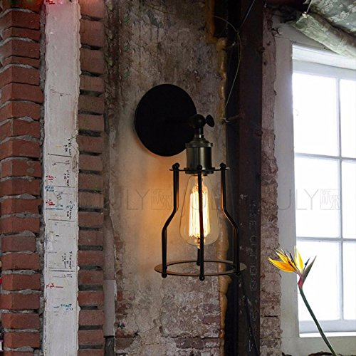 BOOTU LED Wandleuchte nach oben und unten Wandleuchten Industrial warehouse cafe Bekleidung Shop titan Metall wand Lampe 3 Jahre Garantie - Titan Bekleidung