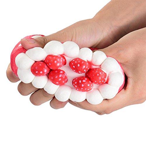 Preisvergleich Produktbild Atdoshop Spielzeug Geschenk, Stress Relief Spielzeug für Kinder mit ADHS, squeeze-Therapie-sensorische-Bildung (11.5x5.5cm, Rote Erdbeere)