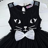 Das beste Katze Kleid Kostüm für Mädchen Tierkostüm für Kinder zu Karneval oder Fasching Cosplay -