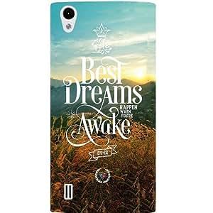Casotec Dreams Design Hard Back Case Cover for VIVO Y15