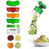 Ohadani Hand, 3-Klingen, Gemüsehobel, Gemüsespaghetti Für Karotte Gemüseschneider und, Kunststoff, Grün, Zerkleinerer