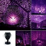 Projecteur d'étoiles à monter soi-même - Lampe de nuit à rotation avec projecteur de 12 constellations romantiques pour chambre à coucher d'enfants et d'adultes - Xshuai, violet