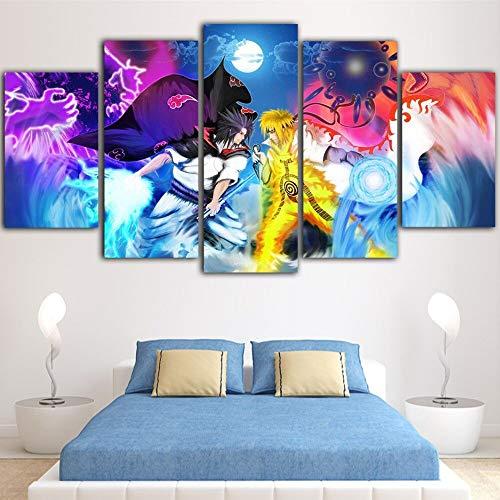 1111111111111 Wanddekoration Design Wand Bild Modulare Wandkunst Leinwand Bilder 5 Stück Animation Figur Poster Charakter Malerei für Wohnzimmer Drucke Cartoon Home Decor