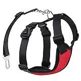 Pawaboo Dog Safety Vest Harness, Pet Dog Adjustable Car...