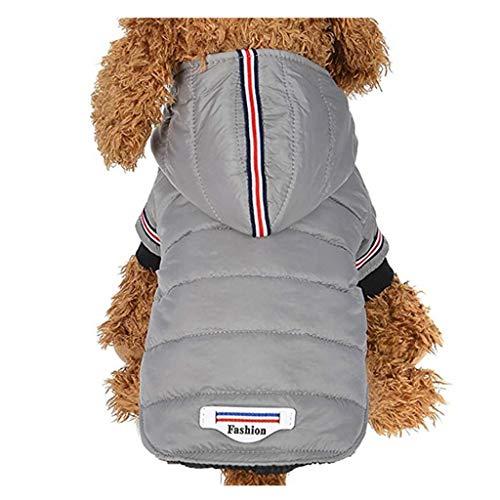 Bumble Kostüm Hunde Bee Xl - WANDER EU Nette kleine Haustier-Hundekleidung-reizende Welpen-Kleidung-Herbst-Winter-warme Kleidungs-Strickjacke-Kostüm-Jacken-Mantel-Kleid für gehendes Rütteln (Grau, XL)