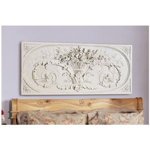 Design Toscano Le Bouquet Grand Sculptural Wall Frieze