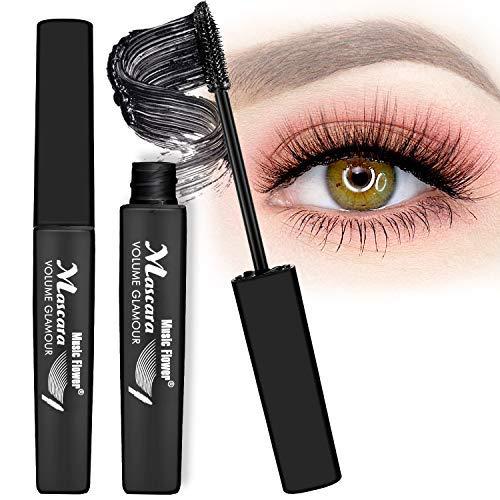 4D Mascara Kit DDK Lashes Wimperntusche mit Fiber Set,MayBeau Makeup Augenbrauenserum Länger Natürliche Dicker Wimpern Wimpernverlängerung Wasserdicht-10ml Mascara + 2.5g Fiber