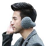 Butterme Unisex Knit pieghevole paraorecchie della peluche velluto Cuffie Accessori esterno di inverno dei paraorecchie per uomini e donne (Grigio#1)