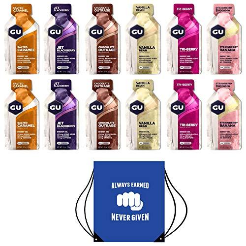 GU Energy Gels - Paquete 24 Geles Sabores Mixtos -