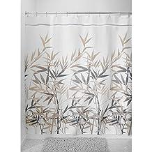 mdesign tenda doccia antimuffa 180 cm x 200 cm tenda per doccia impermeabile neramarrone ideale come tenda per vasca da bagno con 12 anelli