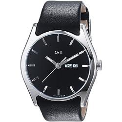 Xen Herren-Armbanduhr XL Analog Quarz Leder XQ0238