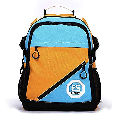 Verwöhnen Paket (YanJ Rucksack Weibliche Koreanische Version des College-Trend-Paket Einfache Casual Männer Tasche Middle School Student Tasche Computer Tasche Reisen@Hellblau Mit Gelb)