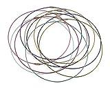 ❤️HobbyHerz 10 x DrahtKette aus Edelstahl und Nylon | Ketten, Choker, Schmuck selber Machen | Halskette aus Draht mit silbernem SchraubVerschluss (Bunt)