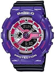 Casio de mujer reloj de pulsera Baby–G analógico–digital cuarzo Resin BA de 110nc de 6aer