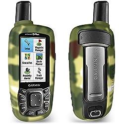 TUSITA Funda para Garmin GPSMAP 62 62s 62st 62sc 62stc 64 64s 64st 64sc - Case Protectora de Silicona Skin - Accesorios de Mano GPS Navigator (Camo)