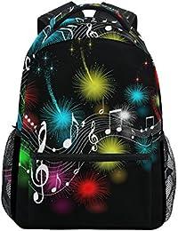 2d549bfaa1 COOSUN Note di musica casuale Daypack sacchetto di scuola dello zaino di  viaggio Multicolore