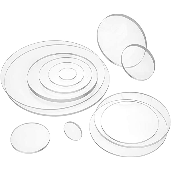 Kreiszuschnitt aus Acryl 3mm XT transparent 28 cm Durchmesser Plexiglas/®