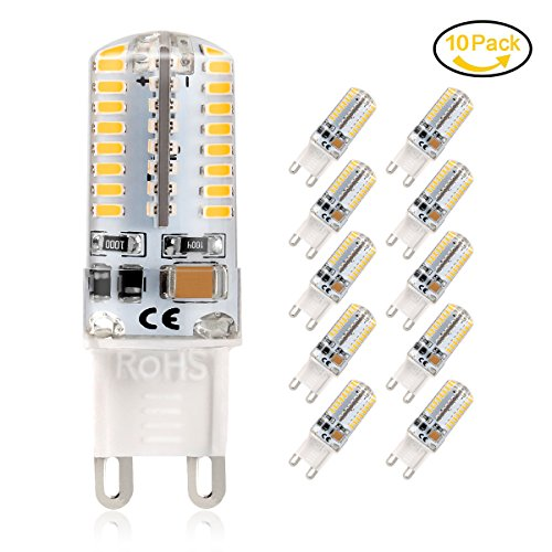 G9 LED Lampe, Jpodream 5Watt 64X 3014SMD G9 LED Birnen, 450LM, Ersatz für 45W Halogen Lampen, Warmweiß 3000K, 360° Abstrahlwinkel, AC220-240V - 10er Pack (12 Volt Mini-ersatz-birnen)