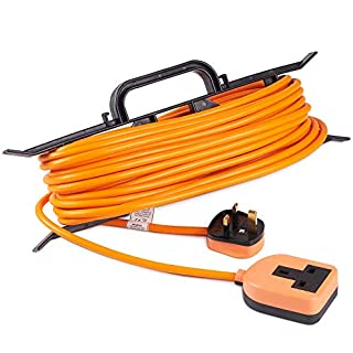 VonHaus Extension Lead 15m H-Frame - One Socket – Tidy Power Lead/Cable Holder – Convenient Carry Handle