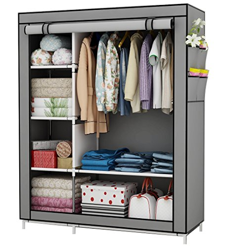 Udear armadio guardaroba,armadi in tessuto,richiudibile,armadio in stoffa, grigio