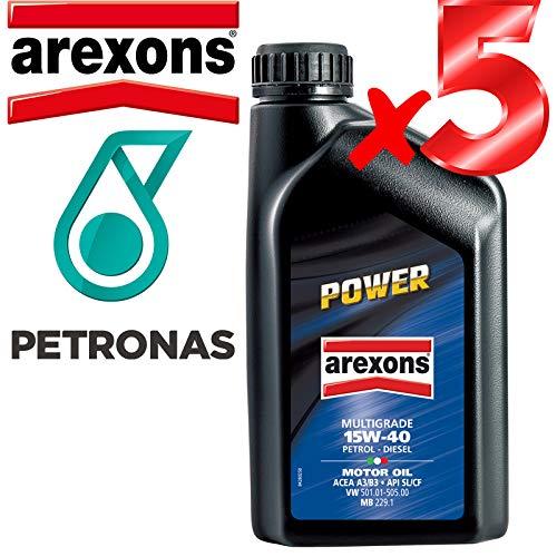 Olio Motore 15w40 Petronas/AREXONS Power Multigrado 5 L Litri Motori Benzina E Dies