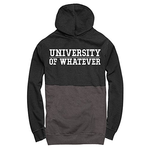 University of Whatever Damen College Kapuzenpullover Schwarz Anthrazit
